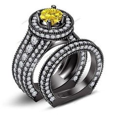 1.35 CT Round Sim.Diamond & Sapphire 925 Silver Bridal Ring Set In Prong Setting #aonedesigns