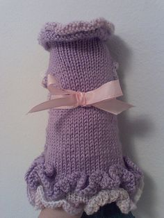 Free Pattern for the A-Line Ruffled Dog Sweater Dress « autumnblossomknits