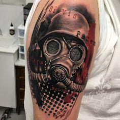 Great Tattoos, New Tattoos, Small Tattoos, Mask Tattoo, I Tattoo, V For Vendetta Tattoo, Skull Sleeve Tattoos, Knight Tattoo, Trash Polka