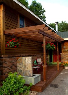 front porch arbor | Pergola Porch , This deck and pergola combination was added to create ...