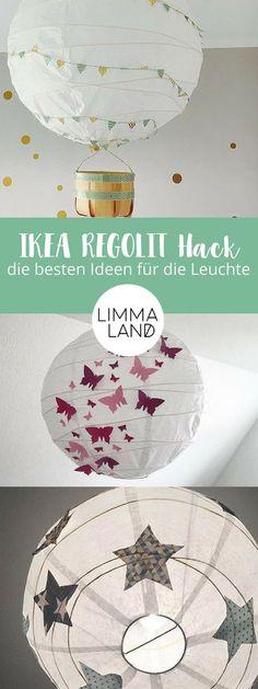 Die runde IKEA REGOLIT ist ein echter Klassiker. Bestimmt hängt die runde Papierleuchte auch irgendwo bei dir rum! Und dabei muss die einfache Deckenlampe gar nicht langweilig aussehen - wie wär's mit einem Heißluftballon oder einer Sternenleuchte? Auf unserem Blog zeigen wir dir, wie du aus der REGOLIT ein echtes Highlight im Kinderzimmer zauberst.