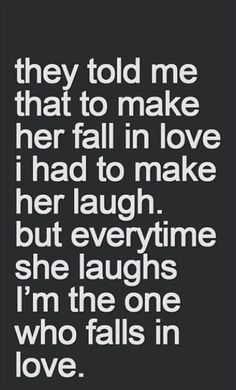 Falling in love through laughter~