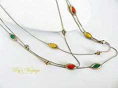 Retro 1960s Necklace  3 Strand Silver Tone by PegsVintageJewellery, $14.00