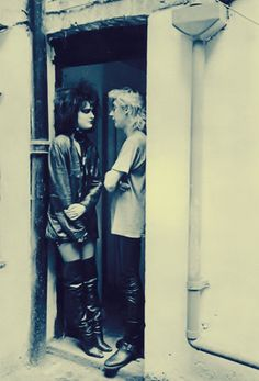 Siouxsie & Budgie, before the wedding and, sadly, the divorce.