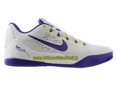 on sale 23567 9d537 Nike Kobe 9 IX Low EM iD - Chaussures de Baskets Pas Cher Pour Homme Noir  Violet-Jaune 653972-iD4