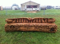 Carved owl bench by Tommy Craggs http://www.pinterest.com/treesculpting/pins/