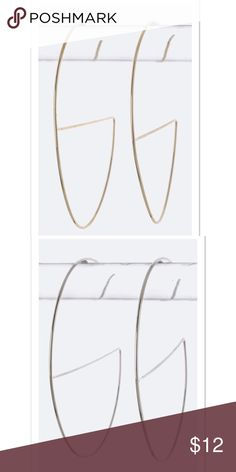 🆕 { The Renee} Wire Hoop Earrings Skinny Wire Earring Available in Gold and Silver Earrings are approximately 2 inches all around  Lead and Nickel Compliant faith & sparkle Jewelry Earrings