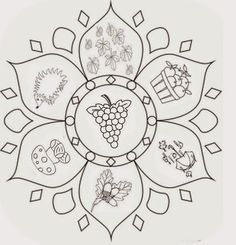 Malvorlage Herbst-Mandalas - Color Me Beautifully - Mandala Coloring Pages, Free Coloring Pages, Coloring Sheets, Coloring Books, Mandalas For Kids, Mindfulness Colouring, Cd Crafts, Fall Crafts For Kids, Printable Crafts
