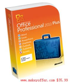 Microsoft office Professional Plus 2010 just $35.99 , you can get free download link , and a genuine key , welcome to our store : mskeyoffer.com
