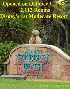 Disney's Caribbean Beach Resort is set on 200 acres of land to the south-east of Epcot.   Guests stay in buildings (grouped into six villages) that encircle Barefoot Bay. This resort has regular rooms and pirate themed rooms.  For more Disney's Caribbean Beach Resort photos and information, see: http://www.buildabettermousetrip.com/images/wdw/ModerateCaribbeanBeach/index.htm