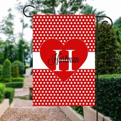 Valentines Day Flag   Valentine Heart Flag   Valentine Yard Art   Heart Garden Flag   Custom Flag   Garden Flag   Garden Decor   Yard Sign #OutdoorFlag #YardFlag #MonogrammedFlag #GardenDecor #MonogramGardenFlag #GardenSign #GardenFlags #WelcomeFlag #PersonalizedFlag #GardenFlag