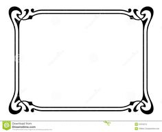 Art Nouveau Ornamental Decorative Frame - Download From Over 47 Million High…