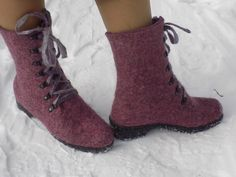 Felted wool boots by ComfortFelt on Etsy