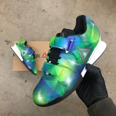 c31312900ca8e7 Custom Painted Prism Reebok Legacy Olympic Weightlifting Shoes