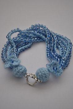 Bratara Bumbac Bleu (BBB) | Material: 100% bumbac | Stil: Handmade