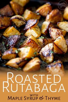 This roasted rutabaga (roasted swede) dish is a wonderful addition to your dinner table. Sweet and fragrant with an earthy note, this side dish will have guest begging for the recipe. Just be sure to cook this for long enough to get the good caramelly bit Swede Recipes, Turnip Recipes, Side Dish Recipes, Vegetable Recipes, Vegetarian Recipes, Cooking Recipes, Healthy Recipes, Vegetable Ideas, Gourmet