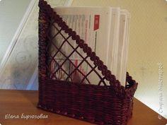 Поделка изделие Плетение Мои первые плетушки Бумага газетная Трубочки бумажные фото 6