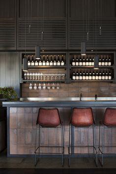 Hospitality project by @heckerguthrie | Australian Designers. Interiors. Modern Living. | #australiandesign #homedecor #modernhomes | More inspiration at: https://www.brabbu.com/en/inspiration-and-ideas/