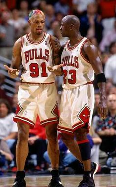 Dennis Rodman and Michael Jordan