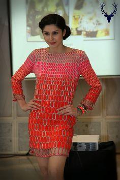 Sherry Shroff showcasing a stylish party wear dress