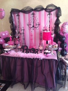 16 Ideas birthday party decoracion for girls sweet 16 paris theme Paris Themed Birthday Party, 13th Birthday Parties, Birthday Party Themes, 10th Birthday, Birthday Ideas, Barbie Birthday, Barbie Party, Girl Birthday, Paris Rosa