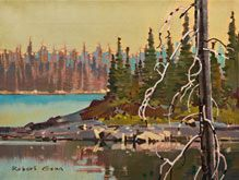 Robert Genn, artist, original landscape paintings at White Rock Gallery North Tip, David's Island NWT
