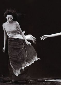 "Kae Iwakawa ""A Windy Summer Day"" Vogue Italia (May 1999) Peter Lindbergh"