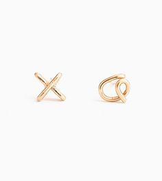 XO Stud Earrings by Aziza Jewelry on Scoutmob