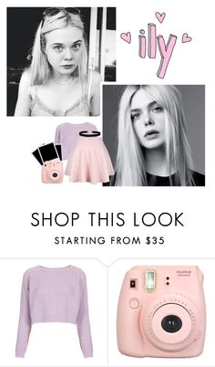 """"""" don't mess with me """" by pastelprincesslol ❤ liked on Polyvore featuring Topshop, Polaroid, Fujifilm, ASOS and Inouï"""
