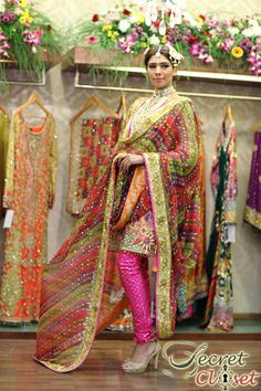Ensemble Nomi Ansari Bridals 2014-MEHNDI LOOK
