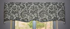 Check out this item in my Etsy shop https://www.etsy.com/seamsoriginal/listing/512517658/custom-valance-scalloped-trimmed-with