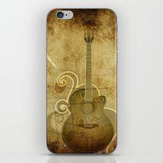 Vintage Acoustic Guitar iPhone Skin