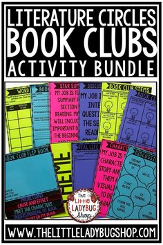 You will love this Book Club Activities bundle! It has everything you need to get your students started on literature circles! From Flip Books, to Games this bundle is jammed packed! This an exciting and educational way for your students to grow as readers in your class! This Activities Packet works perfectly for students in 2nd grade, 3rd grade, 4th grade. #bookclubactivities #literaturecircles #bookclub4thgrade #ReadingResponseActivities #novelstudies #bookclub