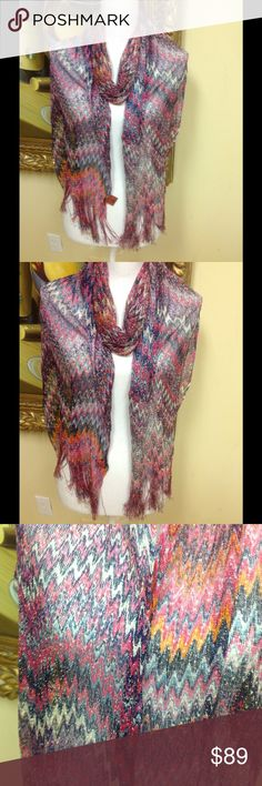 Missoni Scarf Made in Italy Stunning original Missoni scarf Made In Italy. Beautiful fabric that can be worn for all seasons, measures 84 x 14, gorgeous print, classic style, low price. Missoni Accessories Scarves & Wraps