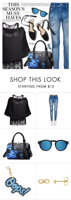 """""""Street Style"""" by pokadoll ❤ liked on Polyvore featuring H&M, Illesteva and Anya Hindmarch"""