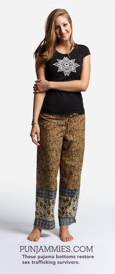 Over 200,000+ young women are being trafficked through India on an annual basis. Take a second to really think about that... Click on the picture to grab a pair of these cute pajama bottoms and help bring an end to this!