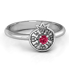 Pomegranate with Filigree Ring #jewlr