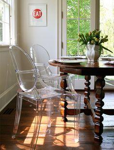 Horton Design Associates - Lucite Philippe Starck Louis Ghost chairs