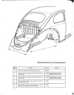URBI-ET-ORBI……My Bucket List Journals.spec sheets for a standard 73 beetle used as reference in replacing the front quarter panel, apron front and rear etc. Kombi Pick Up, Bugatti, Kdf Wagen, Vw Parts, Toy Trucks, Vw Beetles, Vw Bus, Porsche, Vintage