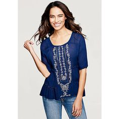 Cleo Embroidered Gauze Blouse