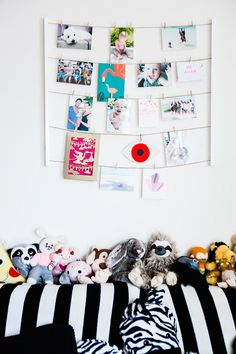 Emily Wassall's Sleek Silver Lake Home - cute art display for kids rooms from Umbra