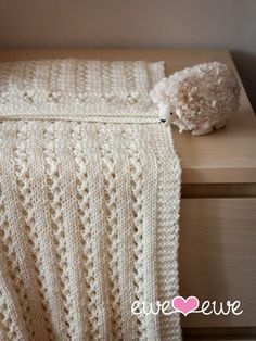 NobleKnits.com - Ewe Ewe Sweet Pea Baby Blanket PDF Knitting Pattern, $5.95 (http://www.nobleknits.com/ewe-ewe-sweet-pea-baby-blanket-pdf-knitting-pattern/)