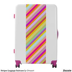 Stripes Luggage Suitcase ,Artwork designed by Ornaart