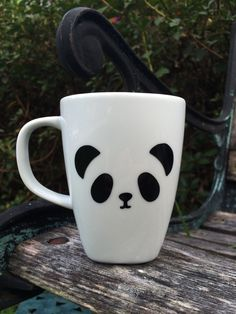 Panda Mug, panda bear Mug, panda Coffee Cup, Vinyl Mug by LunaSavita on Etsy