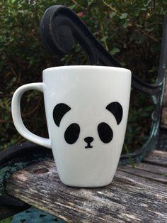 Panda Mug, panda bear Mug, panda Coffee Cup, Vinyl Mug by LunaSavita on Etsy