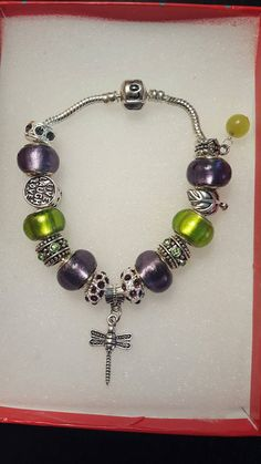 Dragonfly charm bracelet Check out this item in my Etsy shop https://www.etsy.com/listing/498106861/dragonfly-bracelet