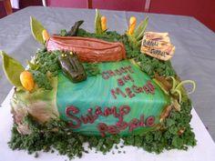 Very Popular Swamp People Cake! By Angel Cakes Alligator Cake, Angel Cake, Shrek, Birthdays, Party Ideas, Birthday Cakes, Cake Ideas, Desserts, People
