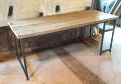 Industrial Style rustic style reclaimed wood 'old growth' & welded steel desks by S.Gunn