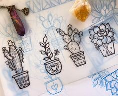 WEBSTA @ stephanietattooer - I'm on a cactus buzz this weekend! I have these little gap fillers available, $100 to $150 depending on size and colour/no colour, and I have next Thursday and Friday available for bookings, dm for details if interested