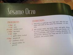 Soy sauce orzo